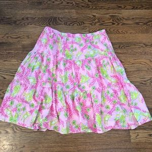 "Lily Pulitzer ""Mommy and Me"" Tiered Skirt—M"
